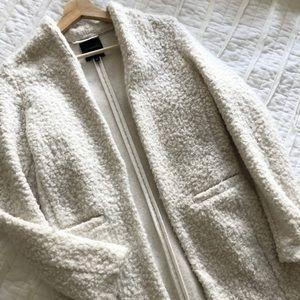 Dynamite White Sherpa Texture Coat